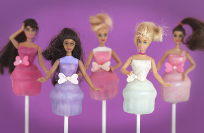Barbie cake toppers