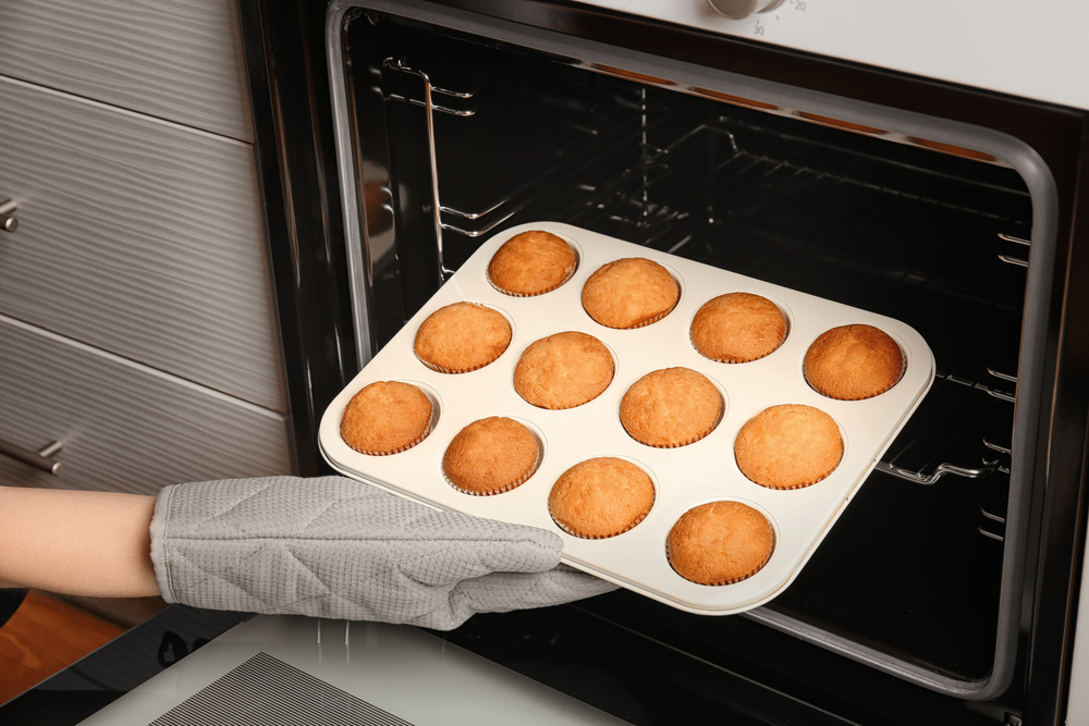 cupcakes from oven
