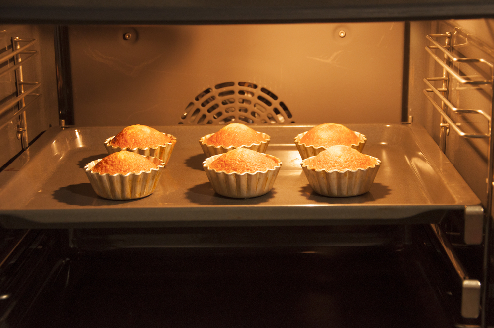 cupcakes in the oven