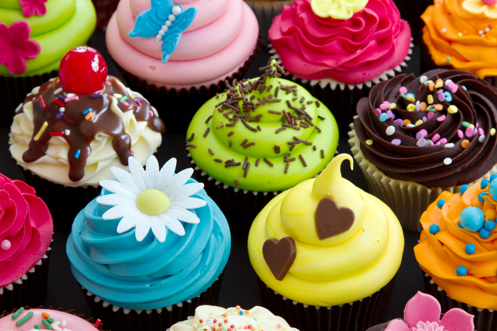 different types of cupcakes