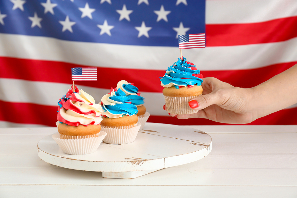 American independence day cupcakes