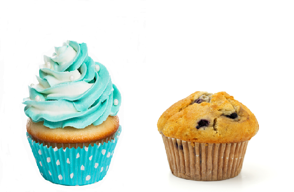 difference between cupcakes and muffins